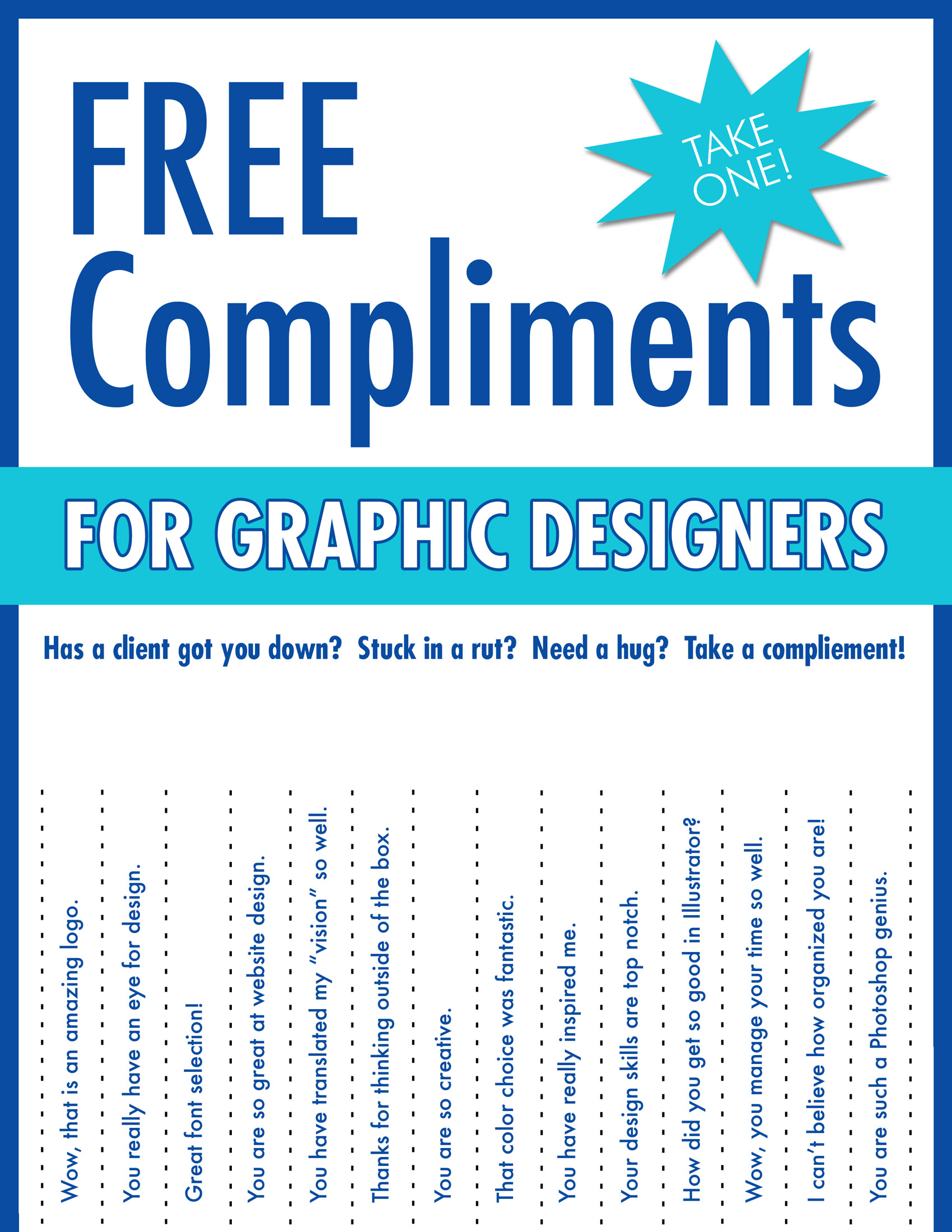 Free Compliments For Graphic Designers | thecreativestack