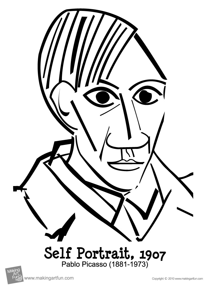 how to draw a cubism face