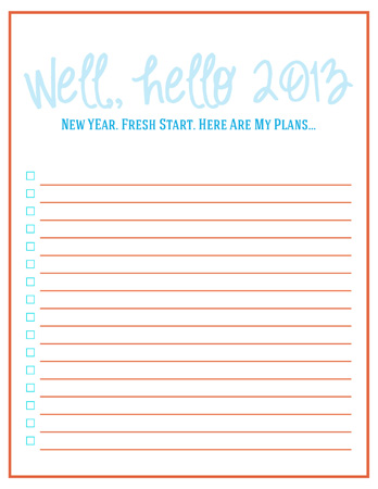 New Years Resolution Checklist